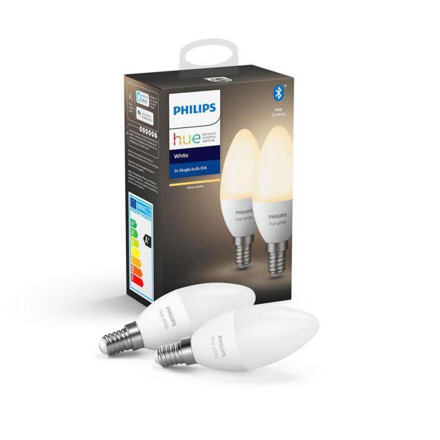 Philips Hue - White 5.5W E14 x2