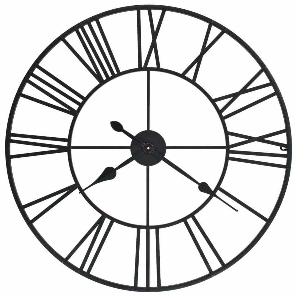 Vidaxl vidaXL Horloge murale vintage avec mouvement à quartz Métal 80 cm XXL