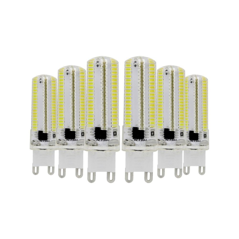 Wewoo Ampoule LED SMD 3014 6PCS G9 7W CA 220-240V 152LEDs SMD 3014 lampe de silicone à économie d'énergie (blanc froid)