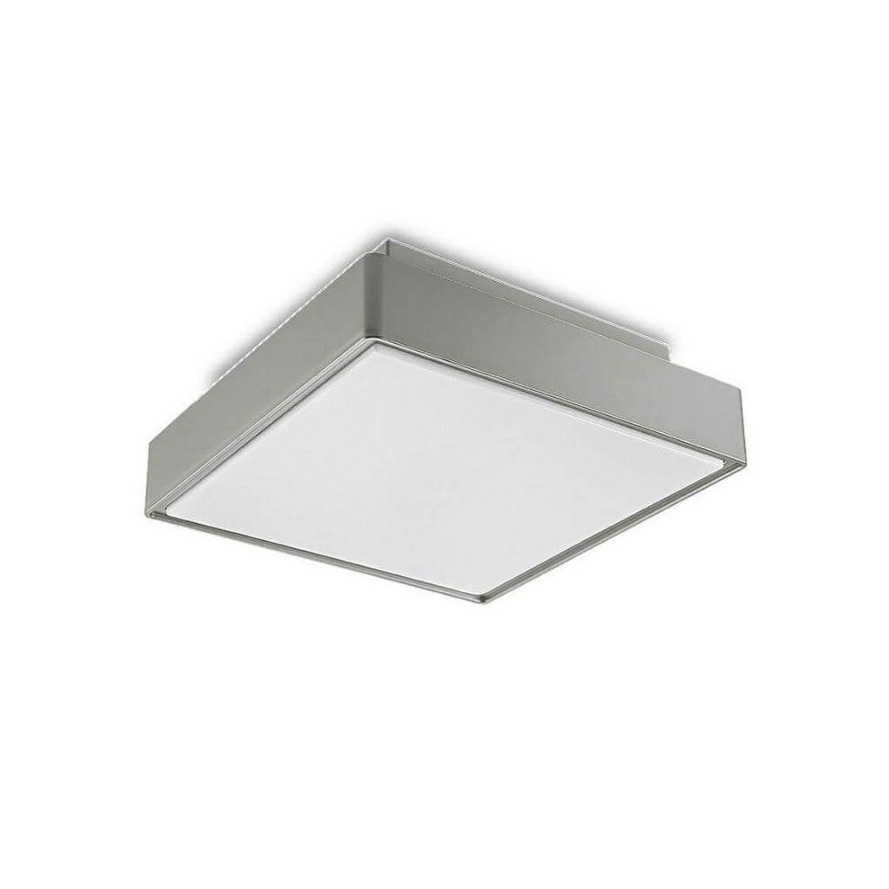 Leds C4 Plafonnier carré extérieur Kössel IP65 30 cm - Gris