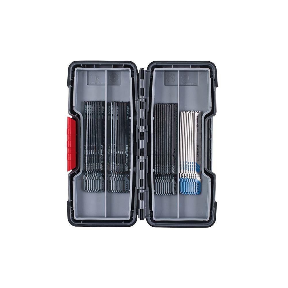 Bosch BOSCH Coffret scie sauteuse Tough Box Bois/Métal 40 pièces - 2607010904