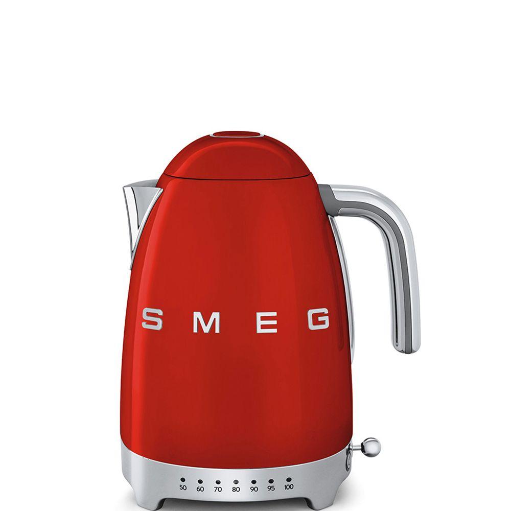 Smeg smeg - bouilloire sans fil 1.7l 2400w rouge - klf04rdeu