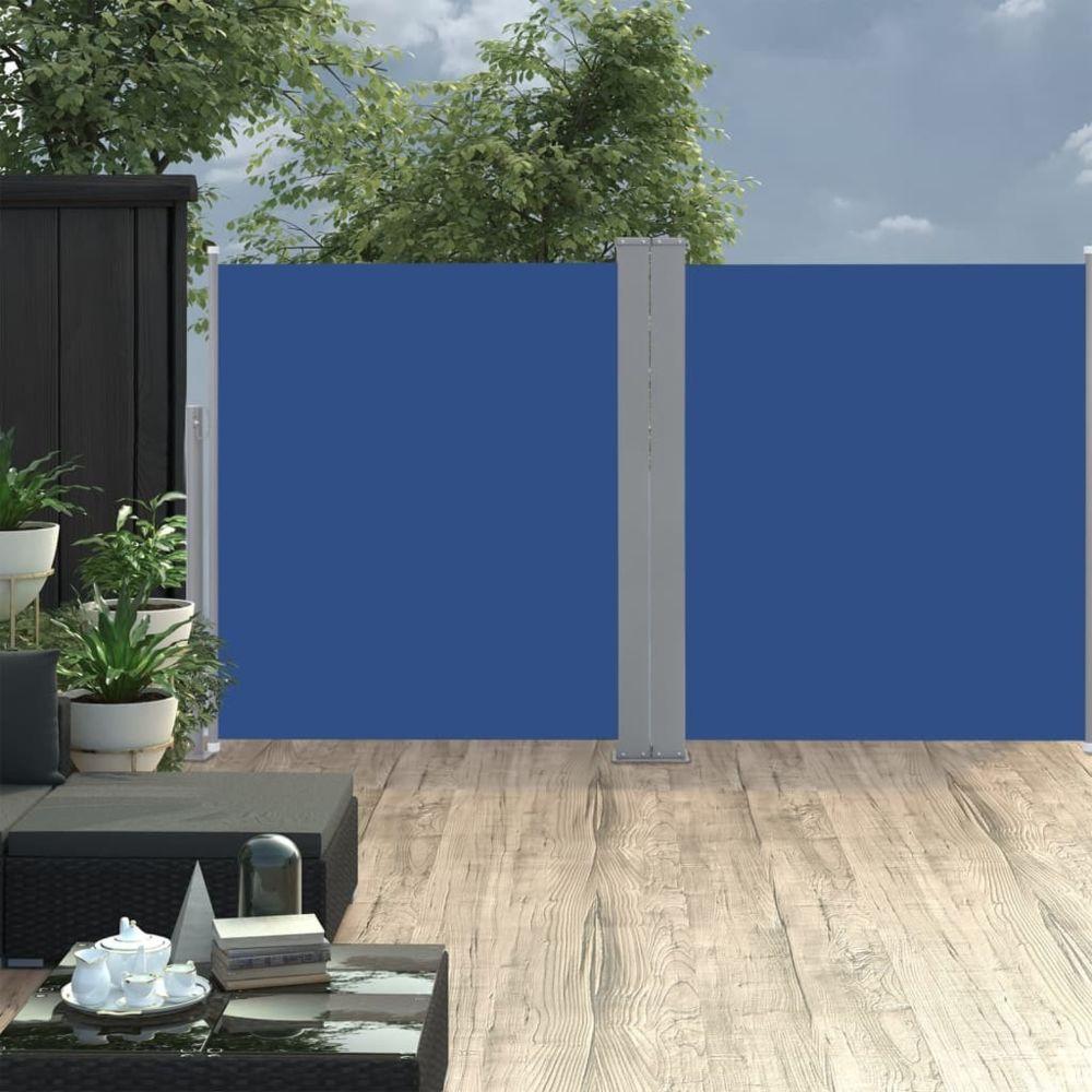 Vidaxl vidaXL Auvent latéral rétractable 170 x 600 cm Bleu