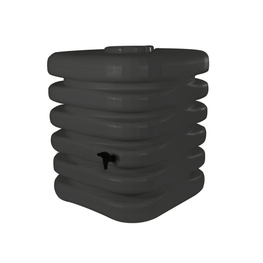 Bellijardin Récupérateur d'eau de pluie Cubique 1000 L anthracite + Kit raccord chéneau