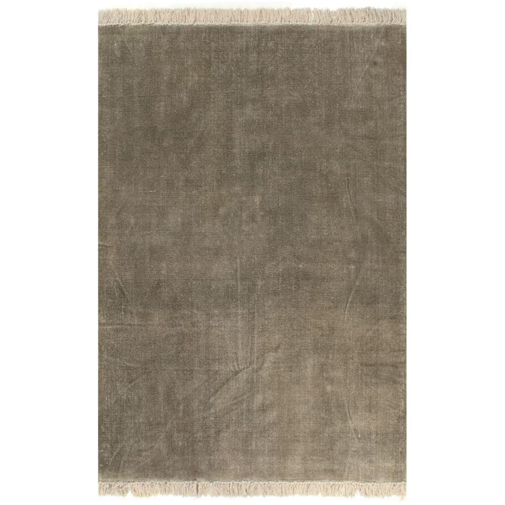 Uco UCO Tapis Kilim Coton 160 x 230 cm Taupe