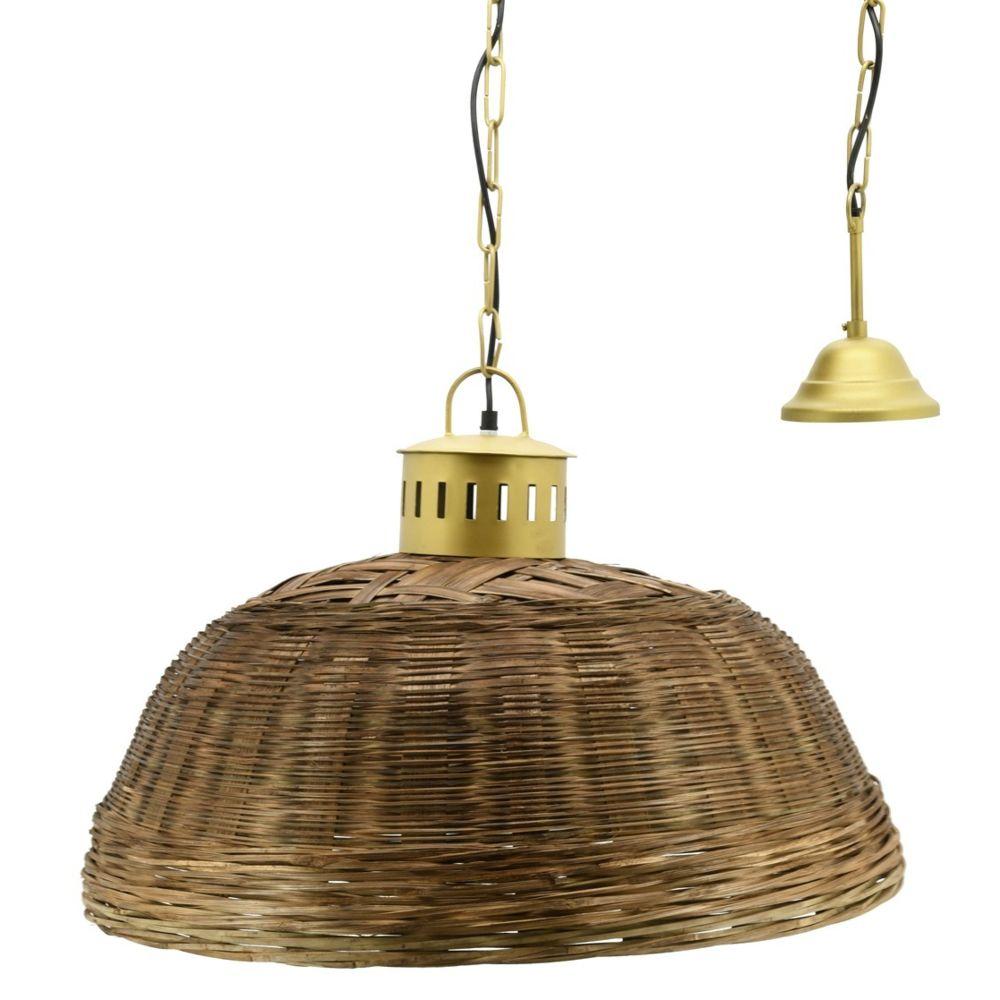 Aubry Gaspard Suspension en bambou teinté et métal doré Diamètre 60 cm