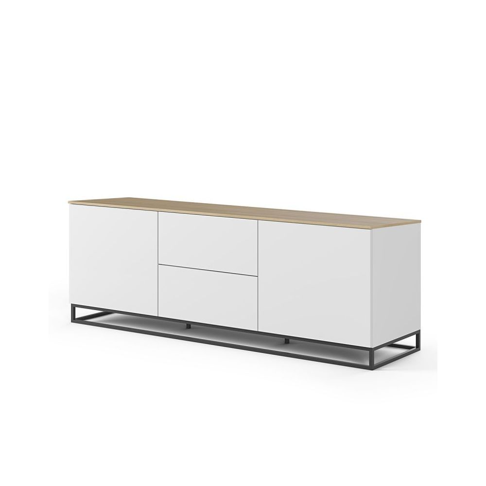 Paris Prix TemaHome - Buffet Design Join XIII 180cm Blanc & Chêne