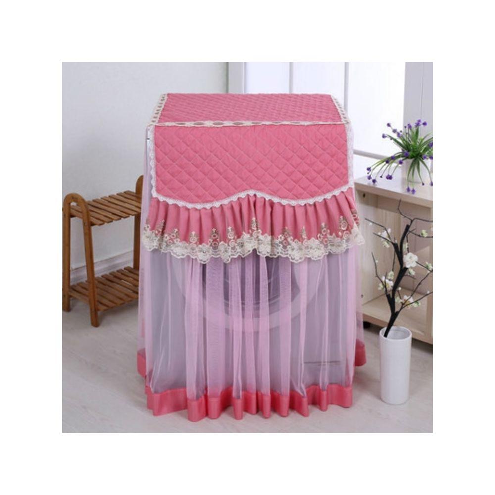 Wewoo Couverture automatique d'écran solaire de poussière de machine à laver de dentelle de tissu pour le rouleau rose