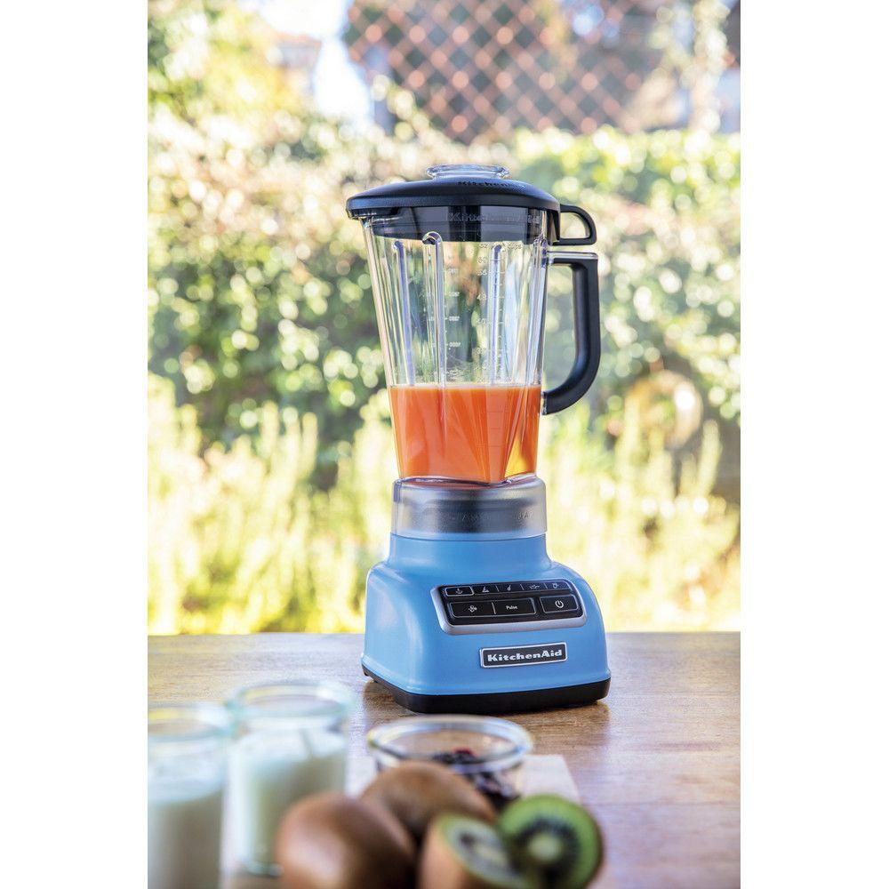 Kitchenaid blender mixeur électrique de 1,75L 550W velvet bleu gris