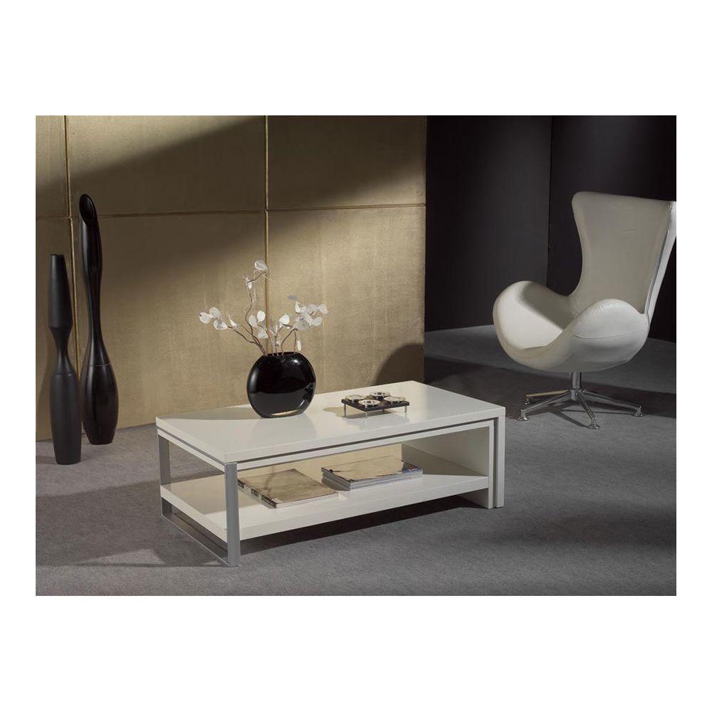 Sofamobili Table basse blanc laqué design ORIANA
