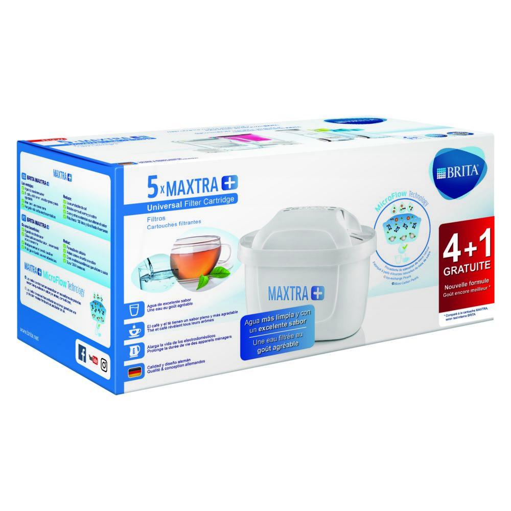 Brita Pack de 4 cartouches + 1 gratuite MAXTRA - 1030941 - Blanc