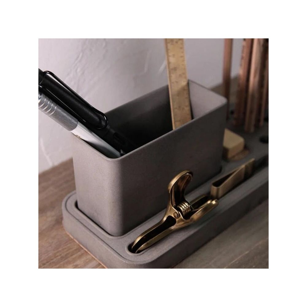 Wewoo Ciment Pen Holder Storage Box Desk Set School Supplies Single C