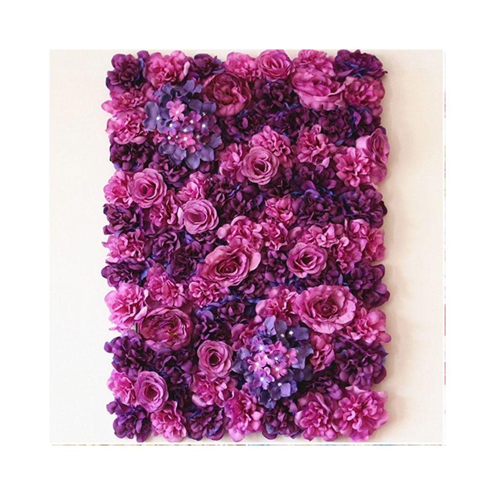 Wewoo Décoration Jardin rose Violet Blooming Pivoine Hortensia Cryptage artificiel fleur bricolage mariage mur photo fond, Tai