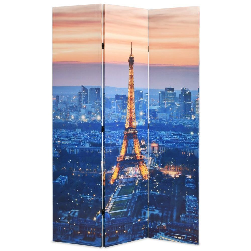 Vidaxl Cloison de séparation pliable 120x180 cm Paris la nuit   Multicolore - Séparateurs de pièces - Meubles   Multicolore   M