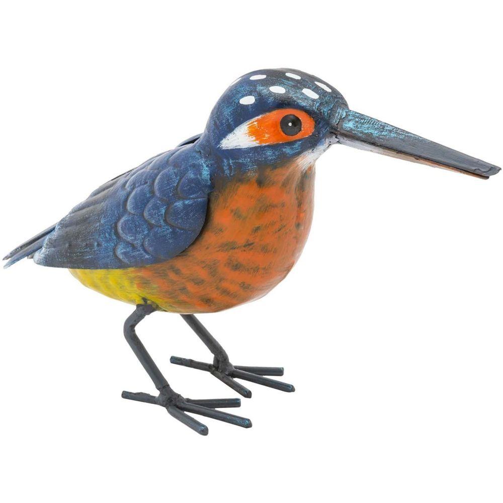 Fountasia Martin-pêcheur en métal 12 cm