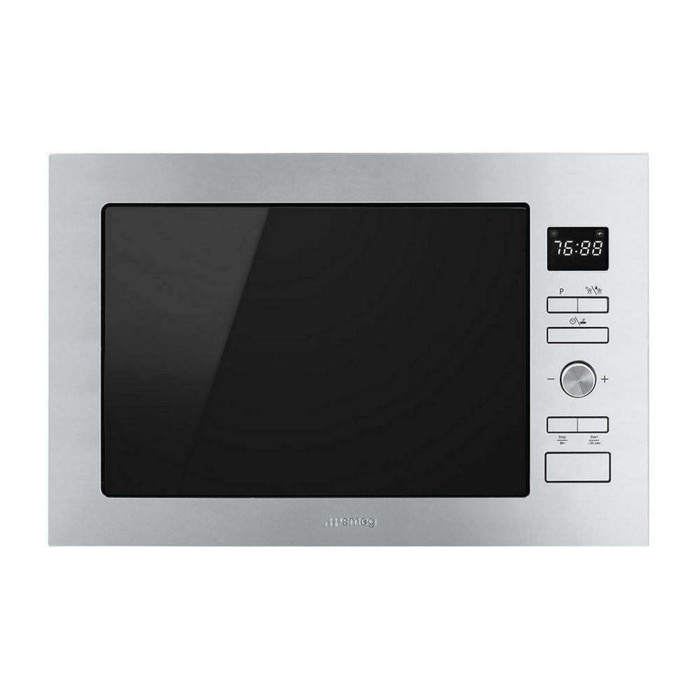 Smeg smeg - micro-onde gril encastrable 25l 900w inox - fmi425x