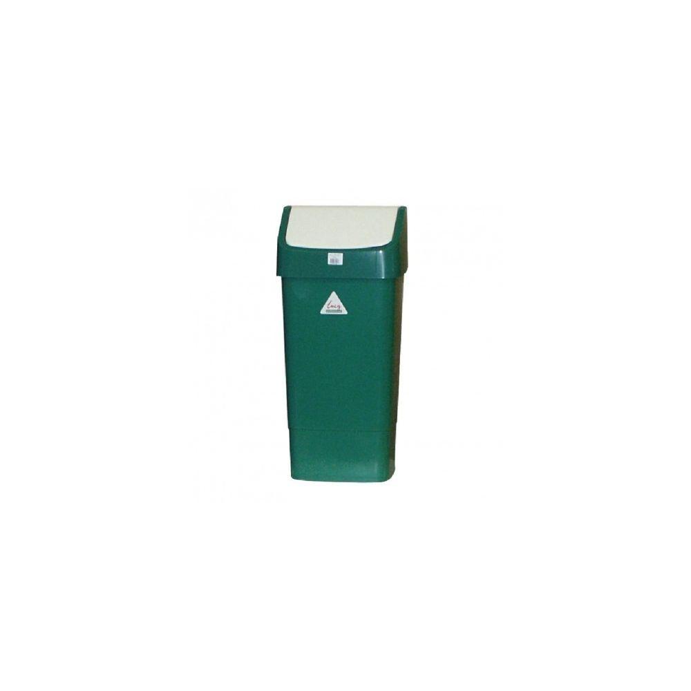 Materiel Chr Pro Poubelle verte à couvercle battant SYR 50 L -