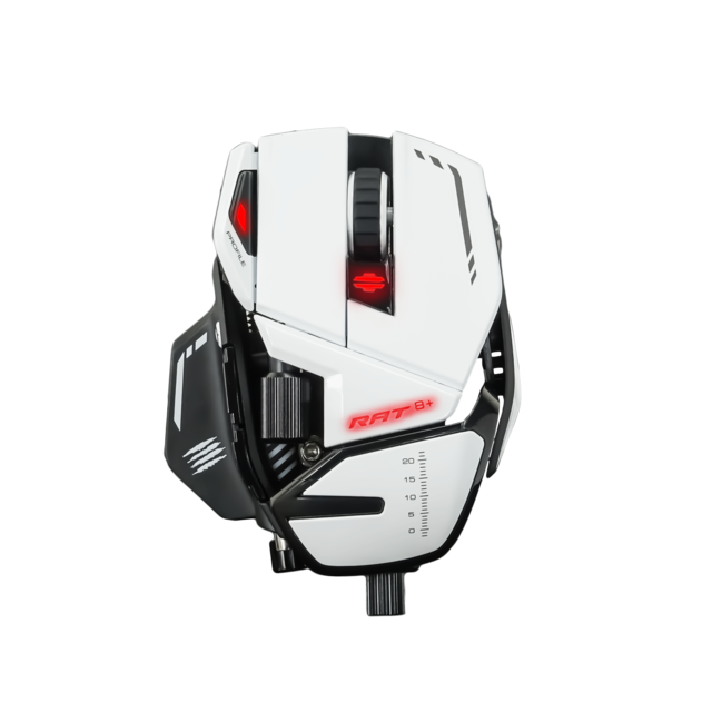 Mad Catz - R.A.T. 8+ blanc - Filaire - Souris 11 boutons