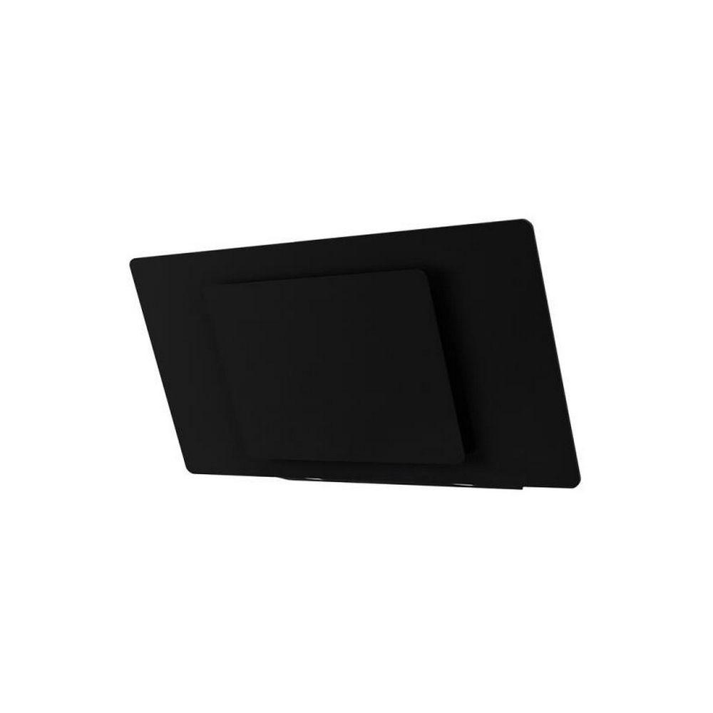 AIRLUX airlux - hotte décorative inclinée 90cm 800m3/h noir - ahw981bk
