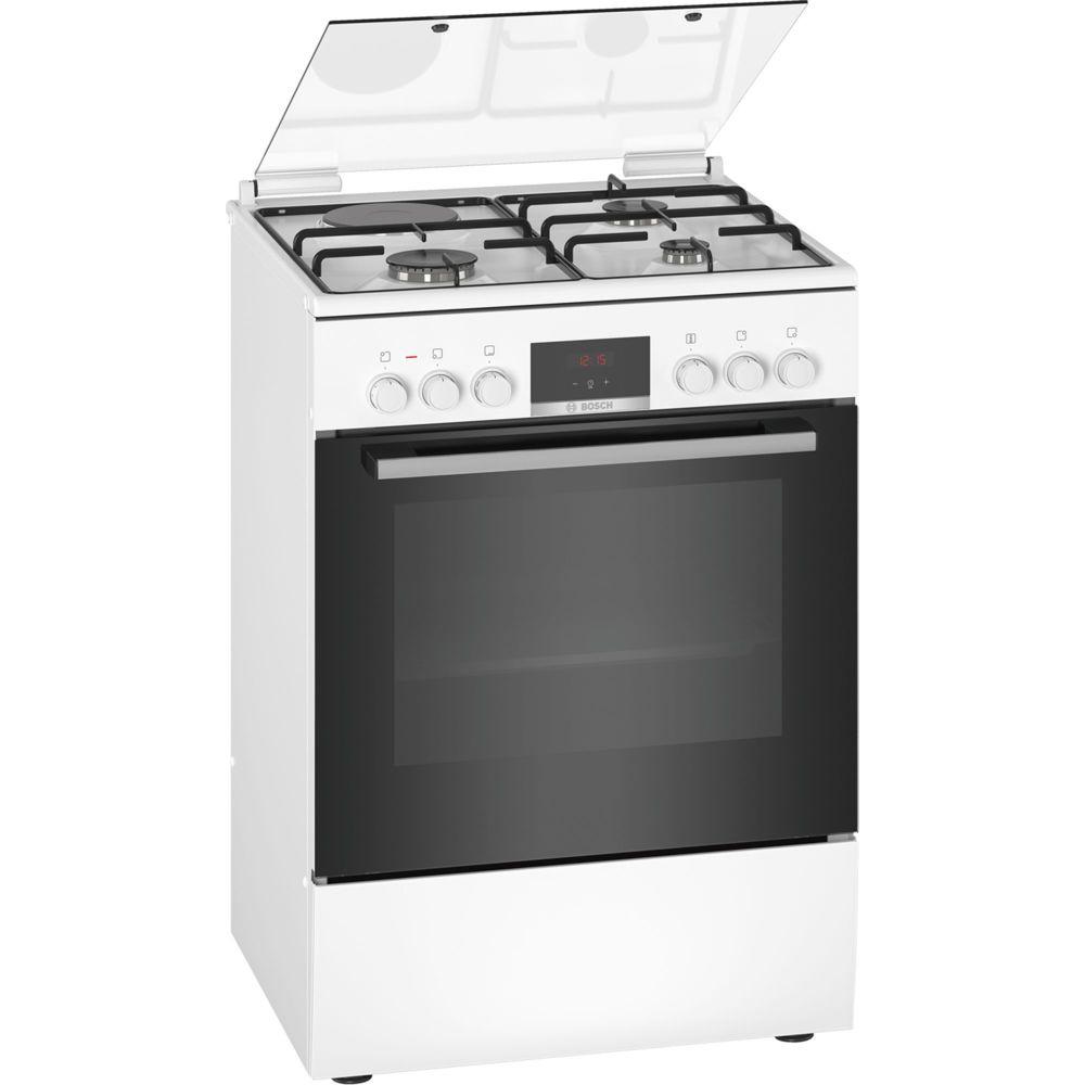 Bosch bosch - cuisinière mixte a 66l 4 feux blanc - hxr39ig20