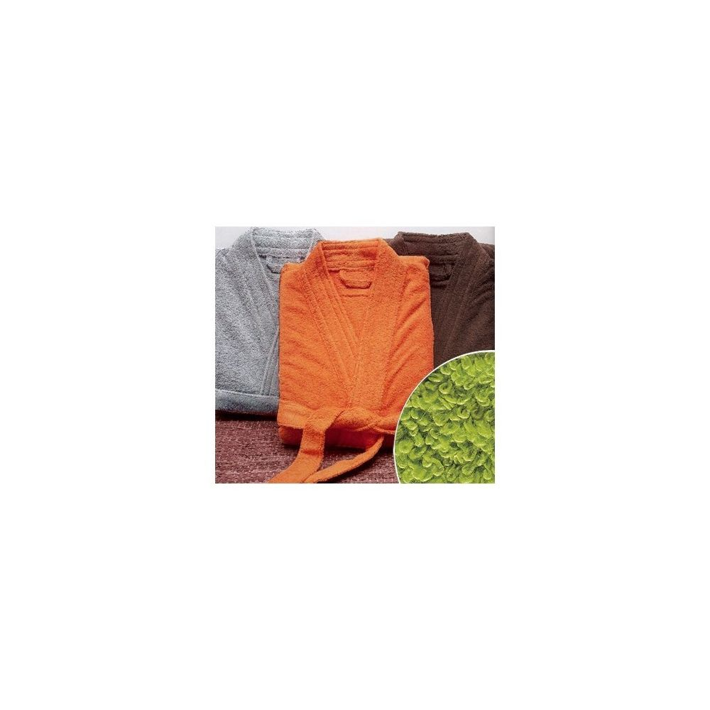 Creazur Peignoir de bain taille XL couleur Pistache Gamme Pure Uni - Vert Pistache