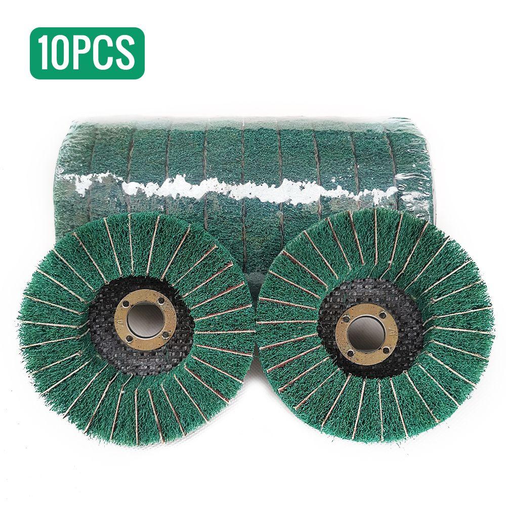 Generic 10pcs Nylon Disque de roue de disque de roue à polir abrasif, abrasif, diam. Roue de polissage pour flap en fibre de nyl