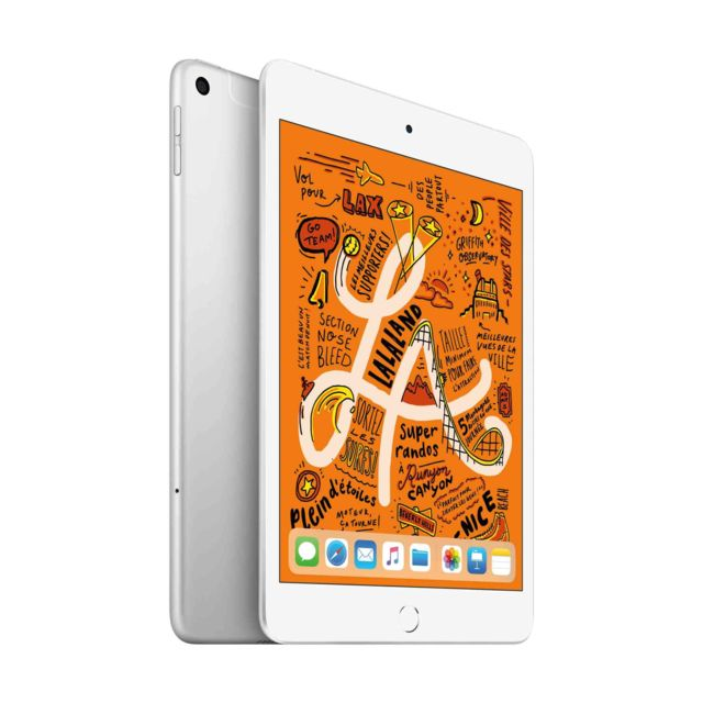 Apple - iPad mini 2019 - 64 Go - Wifi - MUQX2NF/A - Argent - Tablette tactile