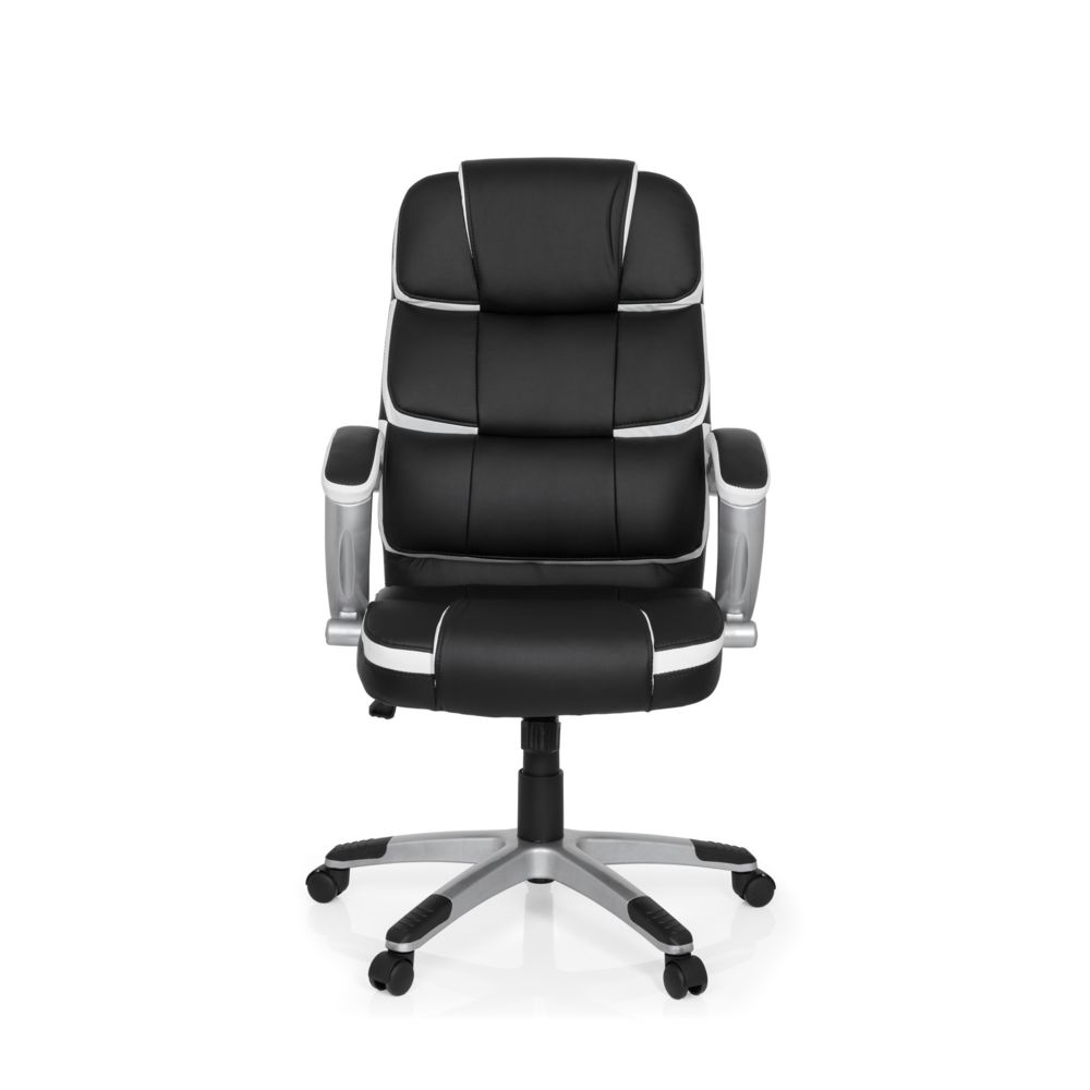 Hjh Office Fauteuil de direction GAMING PRO BY 100 simili cuir noir / blanc