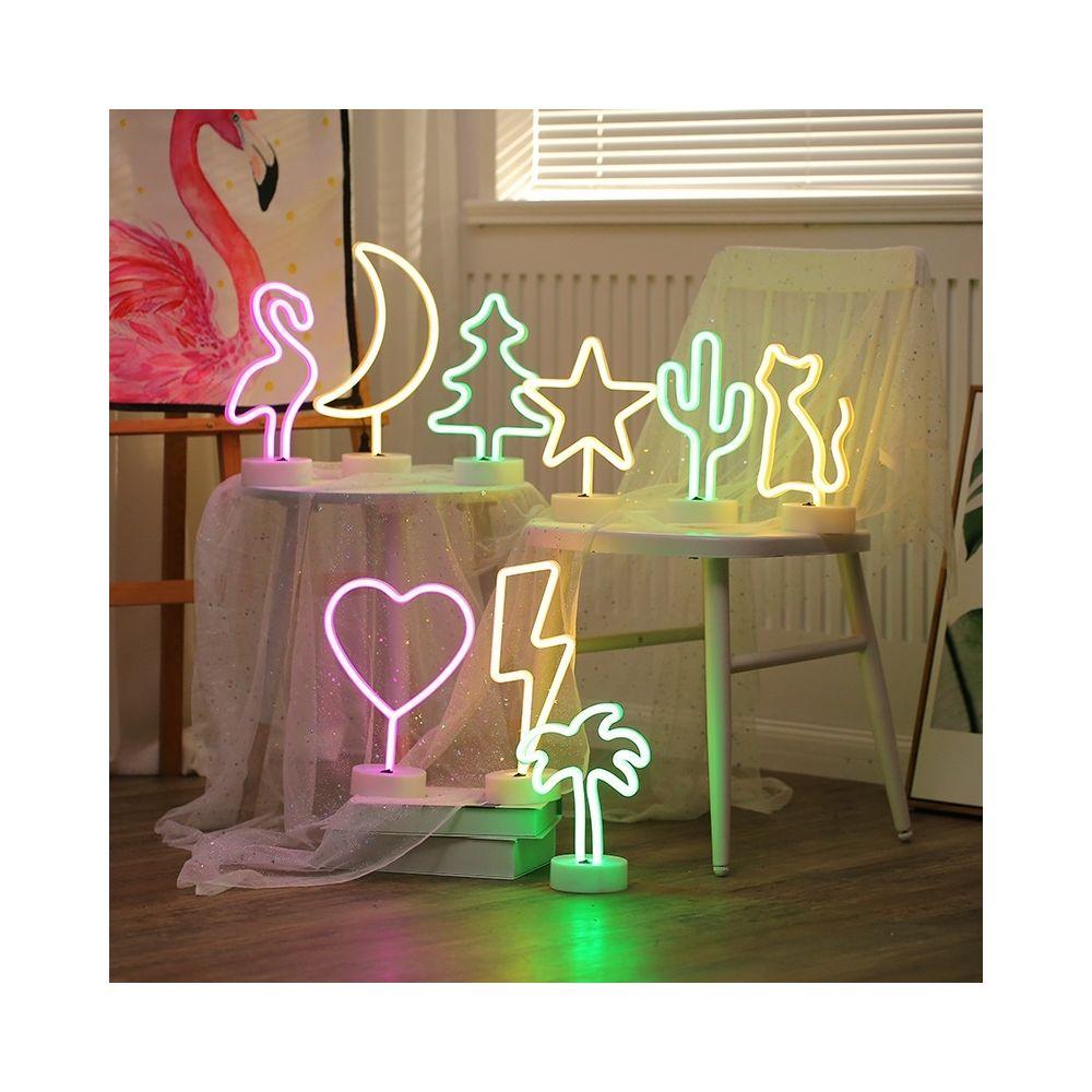 Yonis Lampe LED Décorative Dinosaure Veilleuse Néon LED Interrupteur Lumière Rose - YONIS