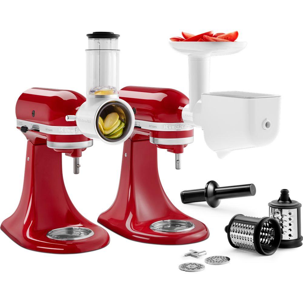 Kitchenaid kitchenaid - kit de 3 accessoires pour robot artisan - 5ksm2fppc