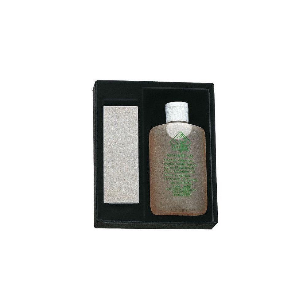 puma Coffret 1 pierre d'Arkansas PUMA + 1 bouteille d'huile d'aiguisage