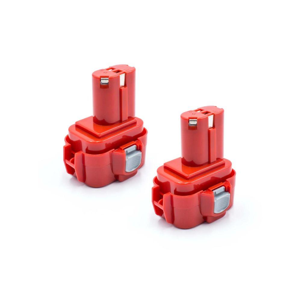 Vhbw vhbw 2x NiMH batterie 1500mAh (9.6V) pour outil électrique outil Powertools Tools comme Makita 9100A, 9101, 9101A, 9102,
