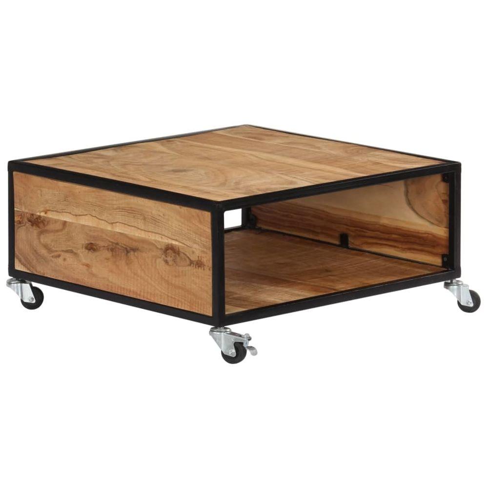 Vidaxl vidaXL Table basse 70x70x32 cm Bois solide d'acacia