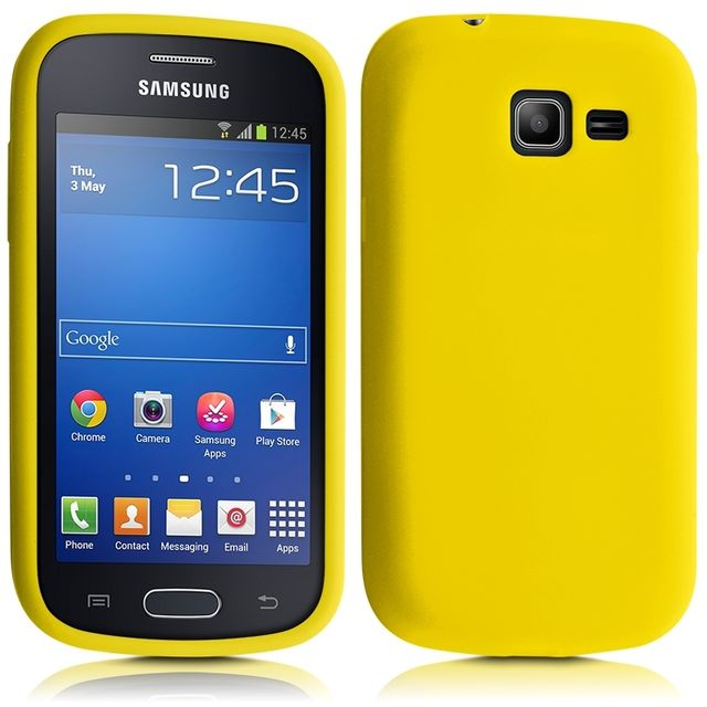 Housse Etui Coque en Silicone Jaune pour Samsung Galaxy Trend Lite Film de(...)