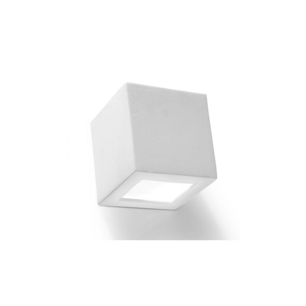 Luminaire Center Applique murale LEO céramique/verre blanc 1 ampoule