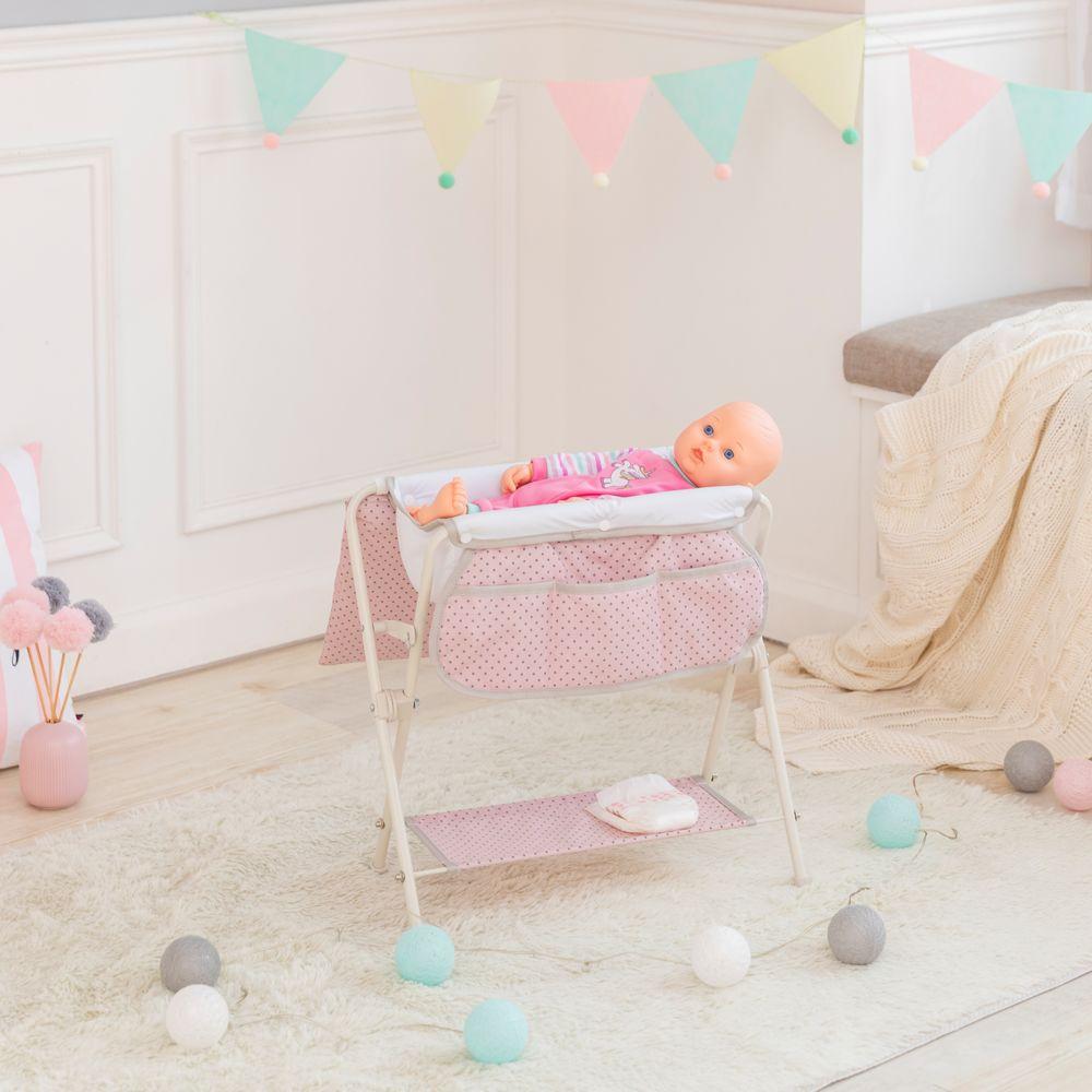 Olivia'S Little World Baignoire bain table à langer de poupée poupon rose Olivia's Little World OL-00008