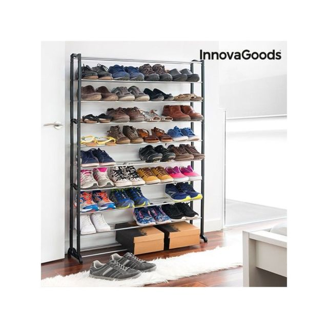 Marque Generique Range Chaussures Innovagoods 50 Paires Rangements A Chaussures Rue Du Commerce
