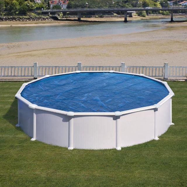bache ete piscine hors sol gre ronde o 550 cm 267 µ