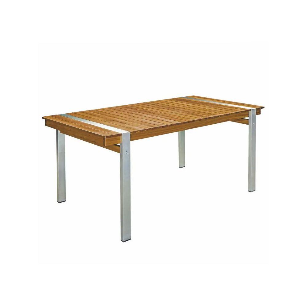 Tousmesmeubles Table de repas rectangulaire 220 cm Bois/Acier - RAIVAVAE