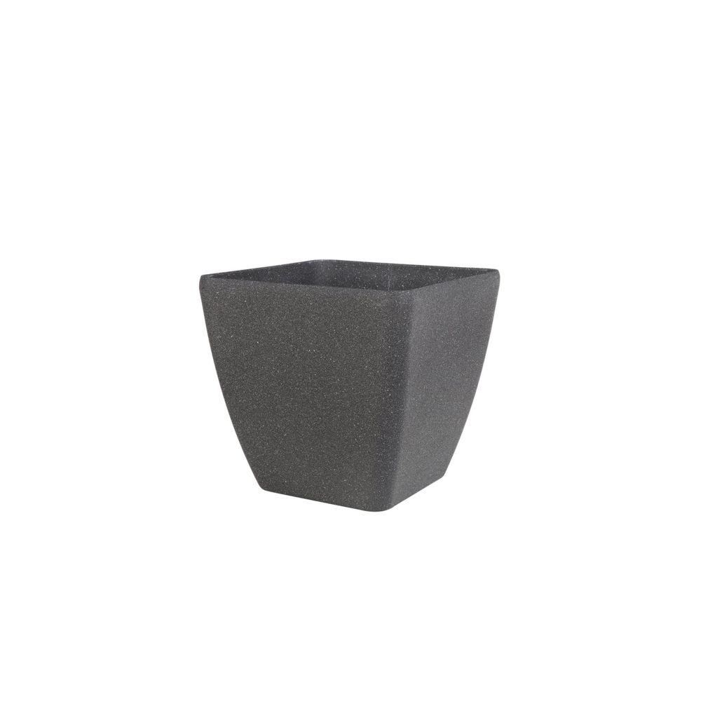 Beliani Pot de fleurs gris foncé 49 x 49 x 49 cm ZELI