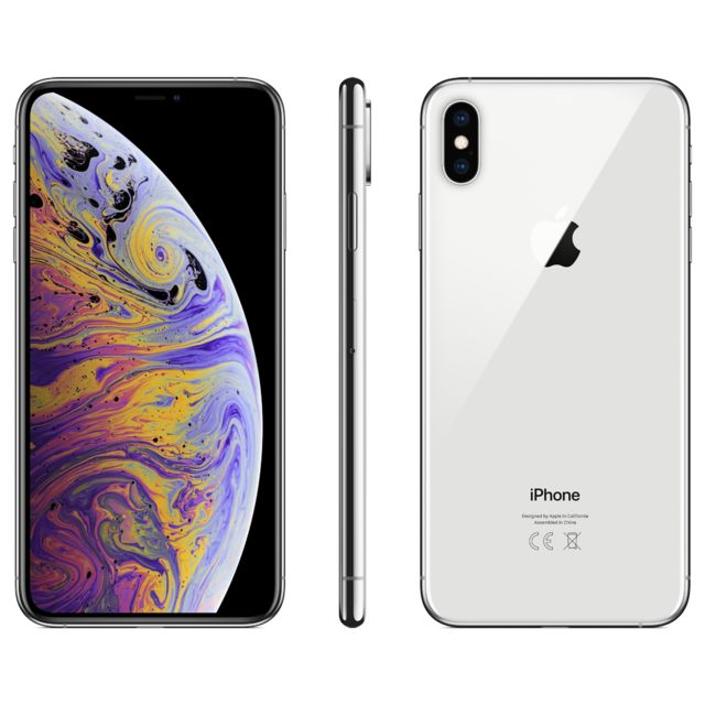 Apple - iPhone XS Max - 256 Go - MT542ZD/A - Argent - iPhone 256 go