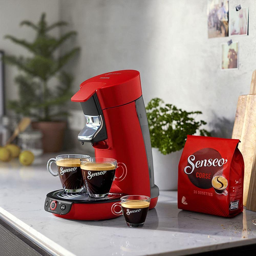 Philips Machine à café de 0,9L 1450W noir rouge