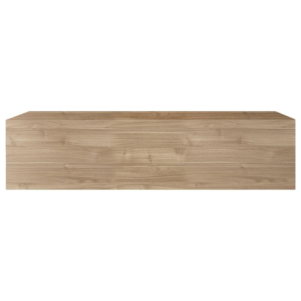 Miliboo Élément mural TV horizontal bois clair ETERNEL