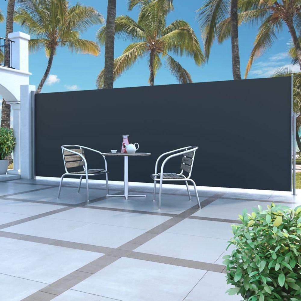 Vidaxl Auvent latéral rétractable 160 x 500 cm Noir - Pelouses et jardins - Vie en extérieur - Parasols et voiles d'ombrage | N