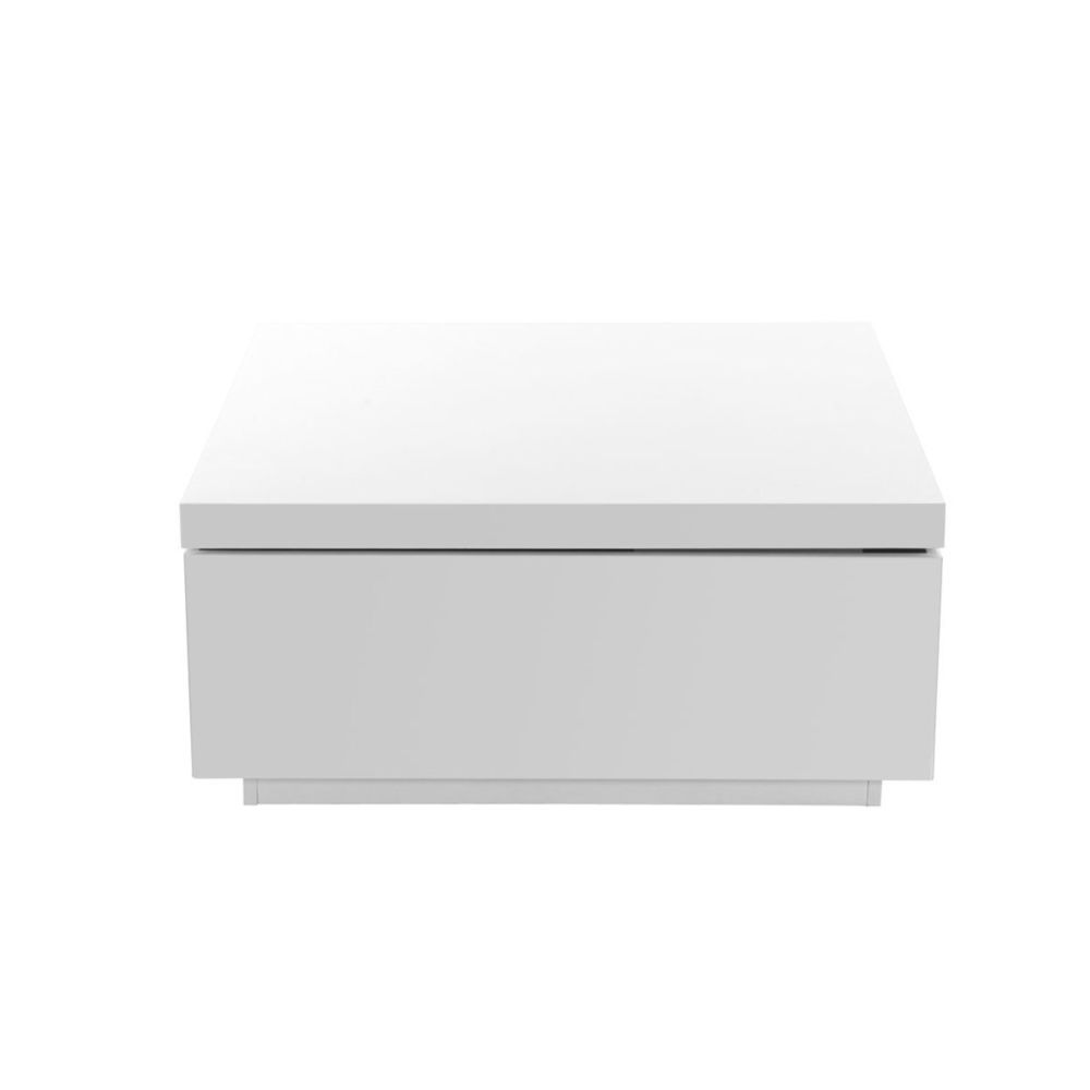 Miliboo Table basse design laquée blanc JANA