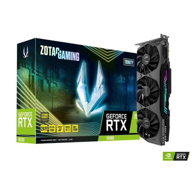 Zotac - GeForce RTX 3090 - Trinity Triple Fan - 24Go - Carte Graphique NVIDIA
