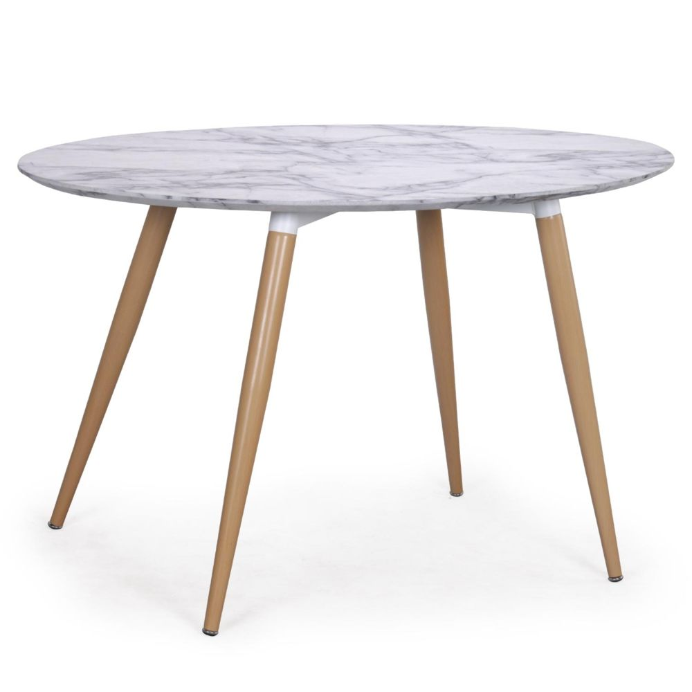 MENZZO Table ovale scandinave Sissi effet Marbre