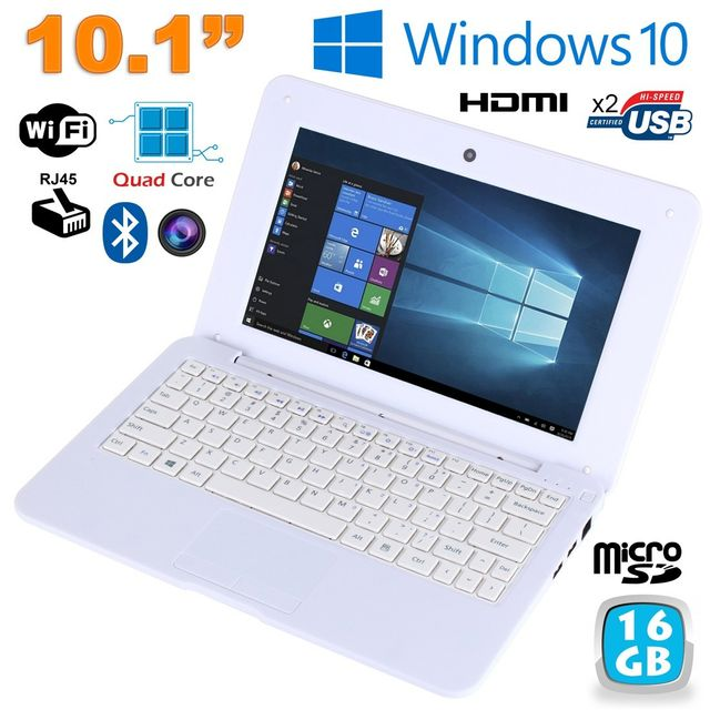 Yonis -Mini PC Portable Windows 10 pro Netbook 10' Notebook 1.83Ghz Blanc Yonis  - Netbook