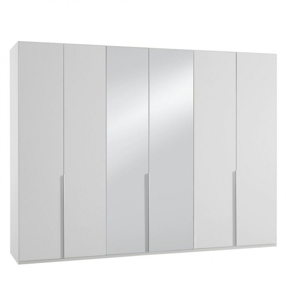 Inside 75 Armoire 6 portes 2 miroirs WILMA 270 cm blanche