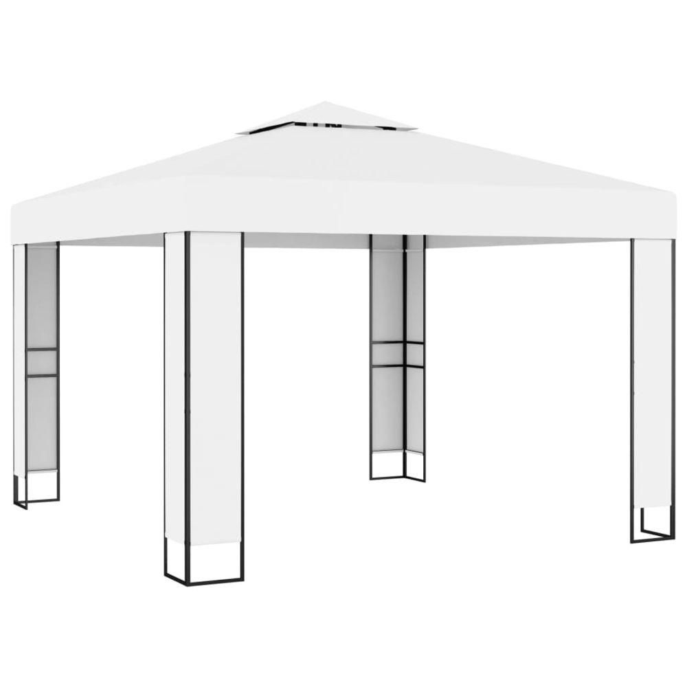 Uco UCO Tonnelle avec toit double 3x3 m Blanc
